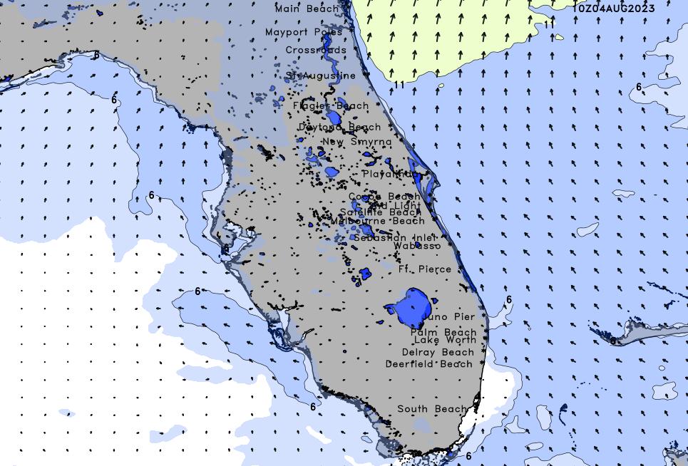 Treasure Coast Palm Beach High Resolution Wind Chart