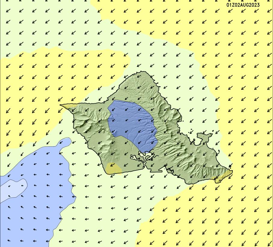 North Shore High Resolution Wind Chart | SURFLINE COM
